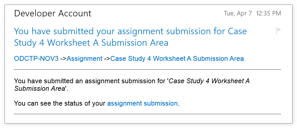 assignment submission email